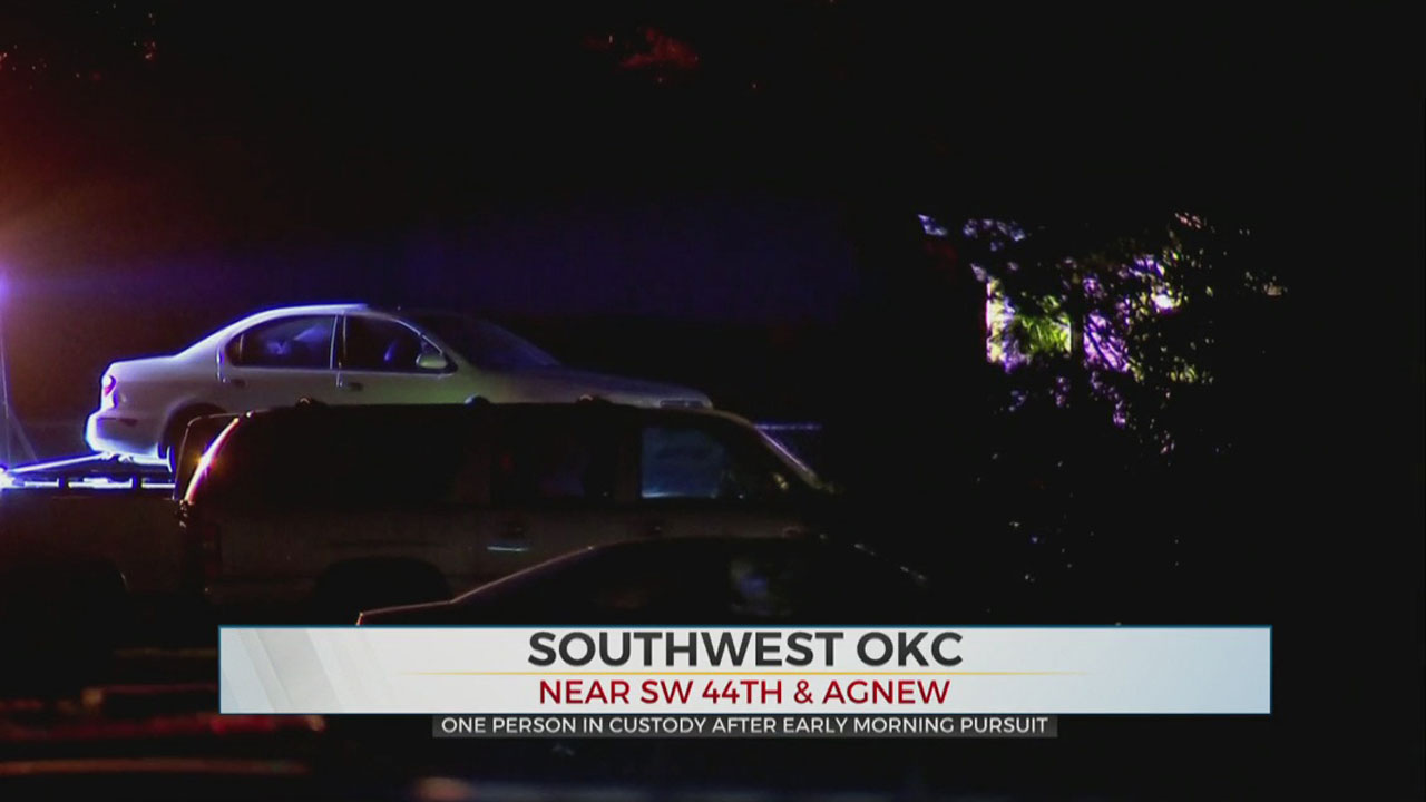 1 In Custody After Overnight Pursuit In SW OKC