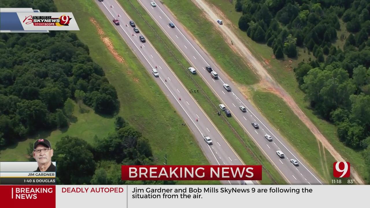 Deadly Auto-Pedestrian Crash Partially Shuts Down I-40 WB Near Douglas Blvd.
