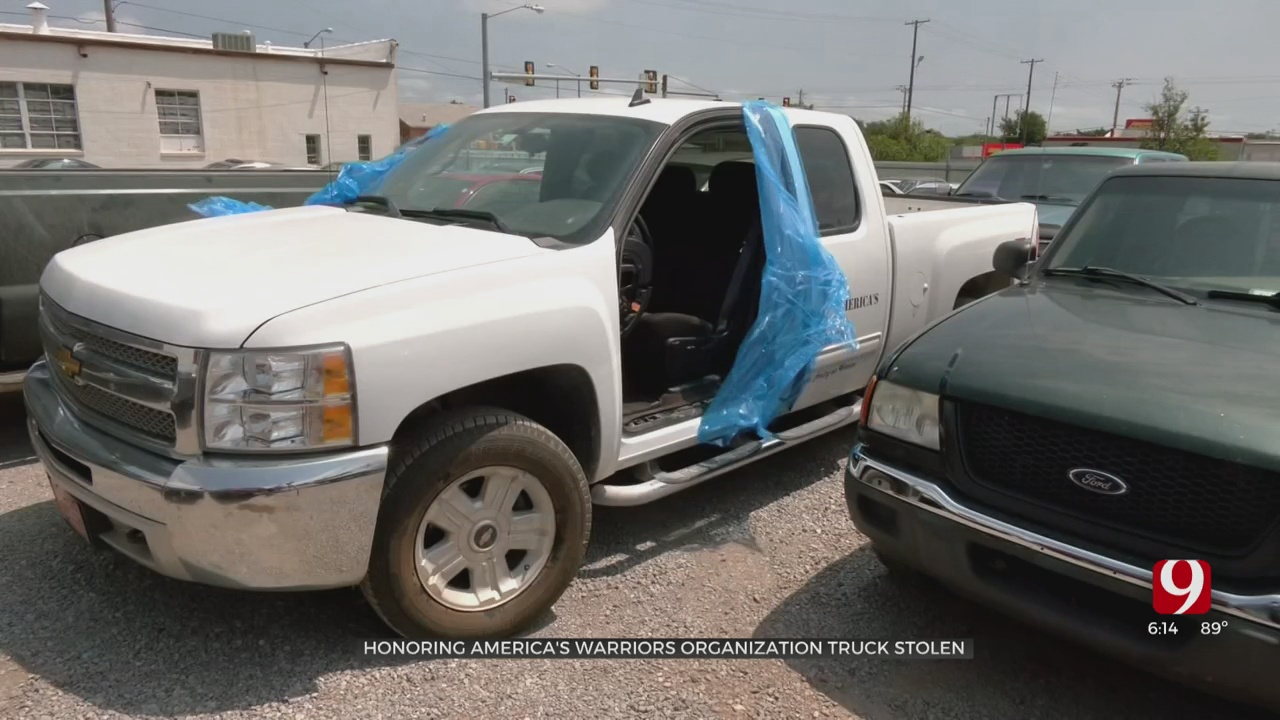 Thieves Steal Truck From Veterans Charity