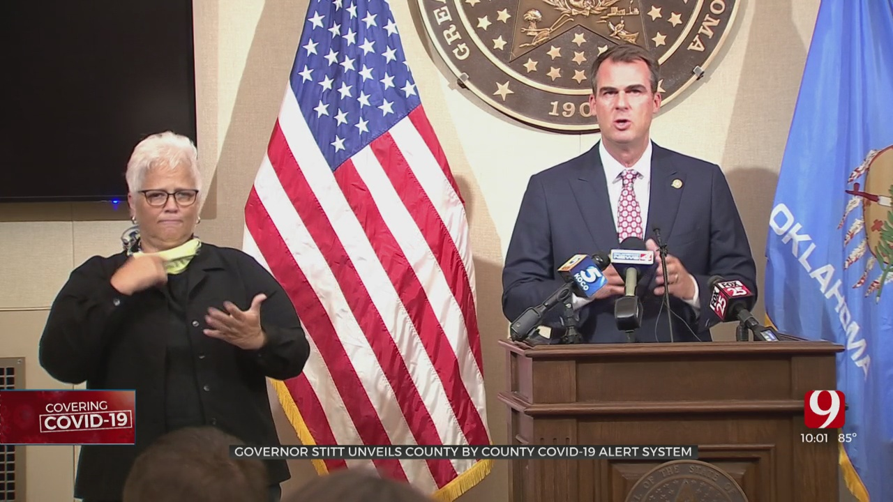 State Debuts New COVID-19 Alert System; Stitt Not Issuing Mask Mandate