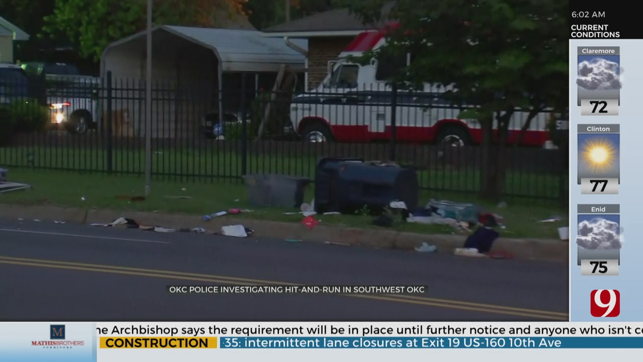 Man Seriously Hurt In SW OKC Hit-And-Run