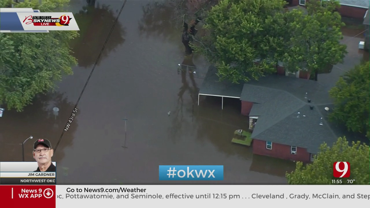 WATCH: Flood Waters Enter Structures In Bethany