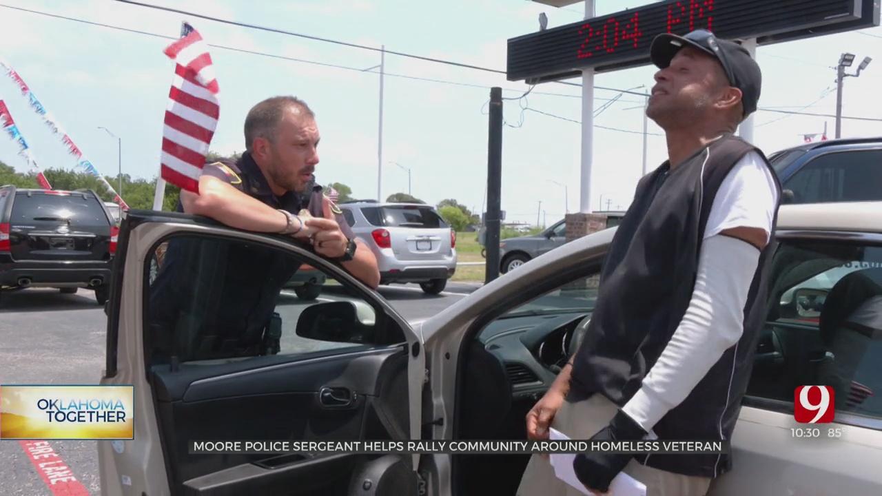 WATCH: Moore PD, Community Rallies To Surprise Homeless Veteran