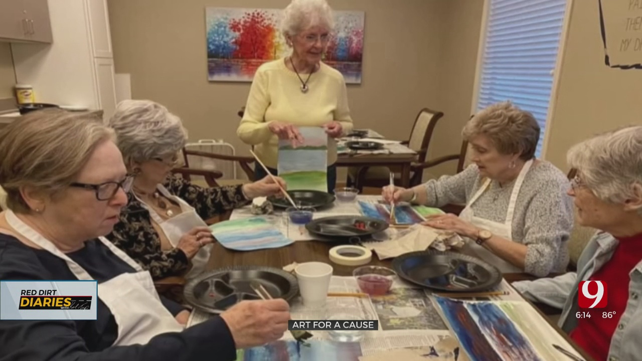 Red Dirt Diaries: 90-Year-Old Artist Paints 70 Pieces During Pandemic