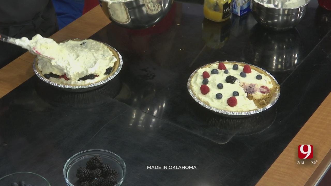 Blackberry and Lemon Mango Icebox Cake