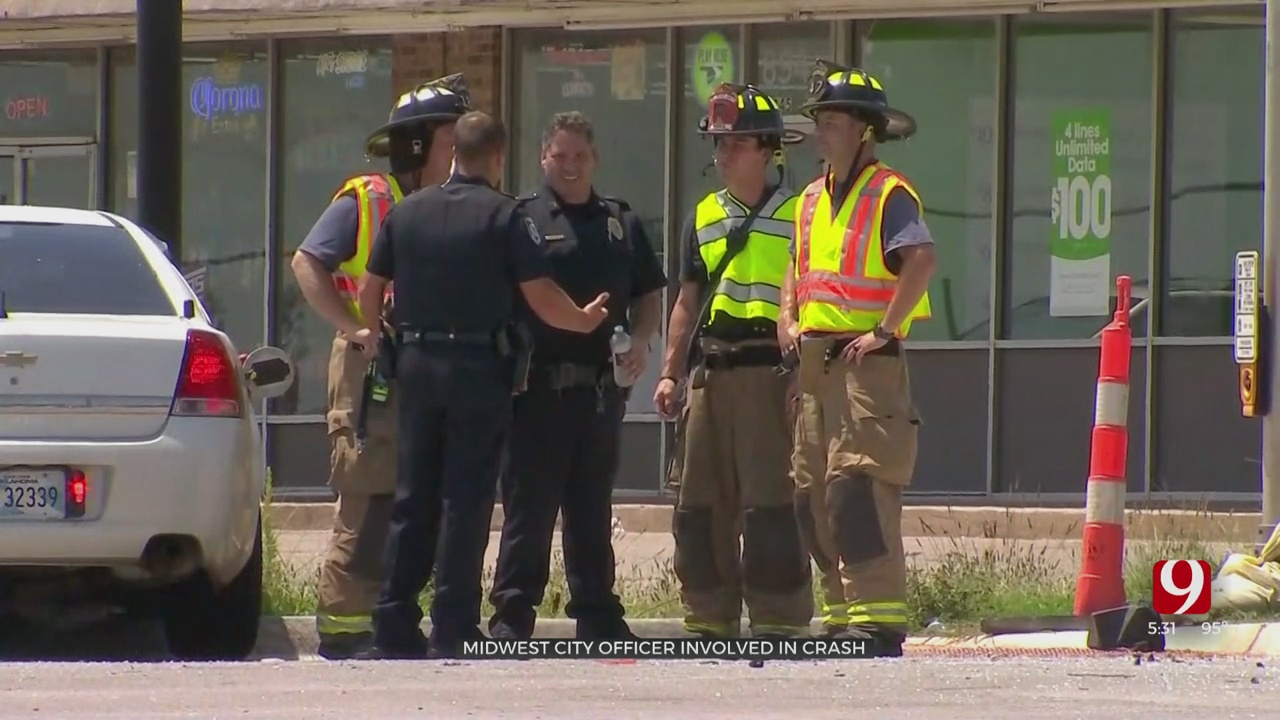 Police Officer Injured In Midwest City Accident
