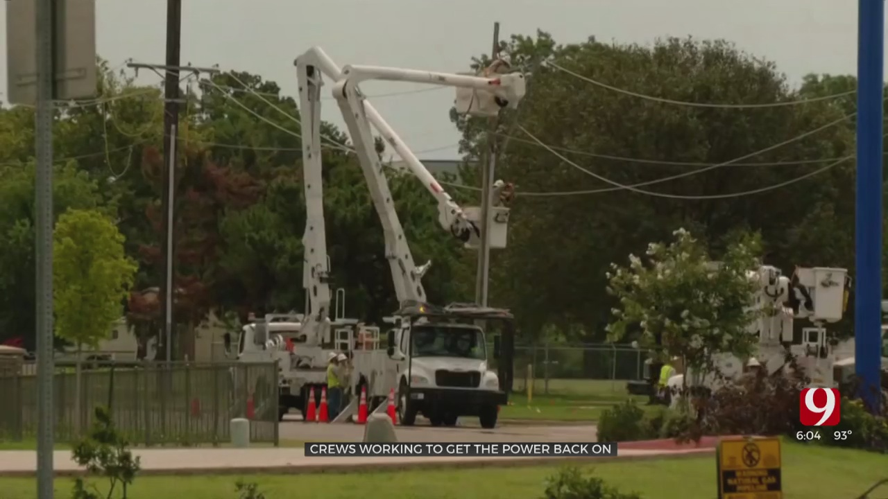 Crews Still Working To Restore Power After Severe Storms Sweep Through Metro