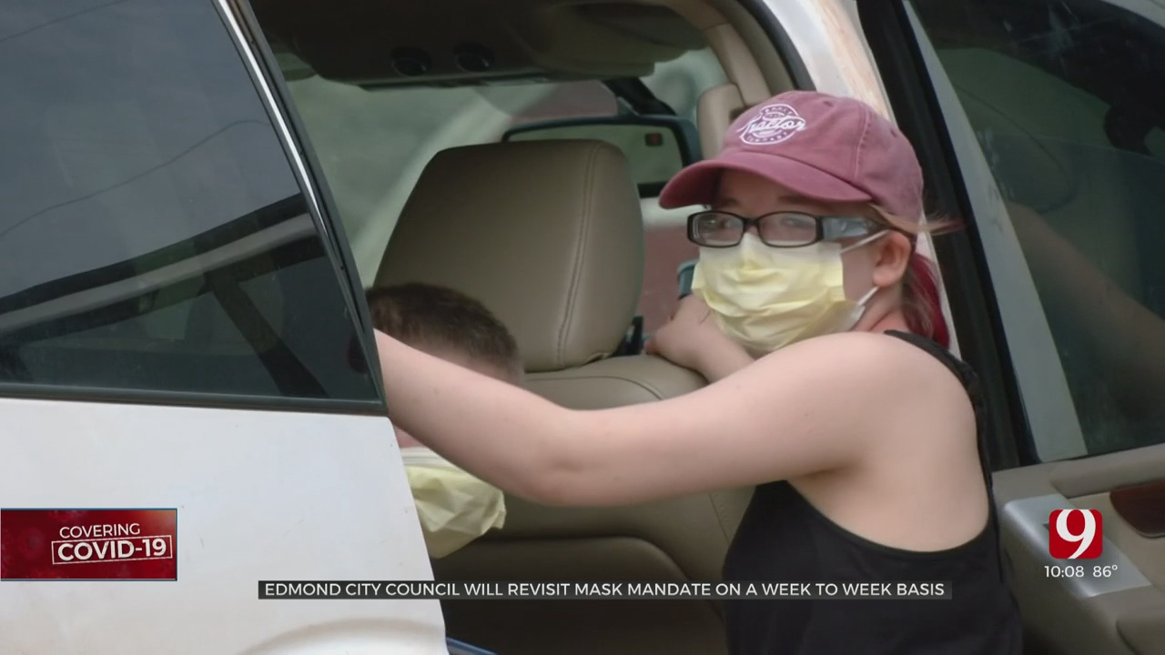 Edmond City Council Plans To Revisit Topic Of Mask Mandate On Week-To-Week Basis