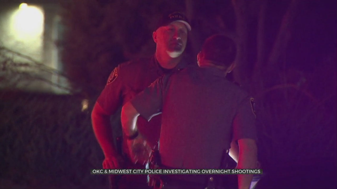 2 Taken To Hospital Following Overnight Shootings In OKC, MWC