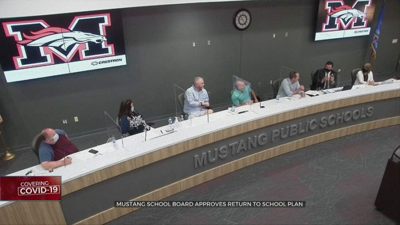 Face Masks Required In Mustang School Board's Return To School Plan