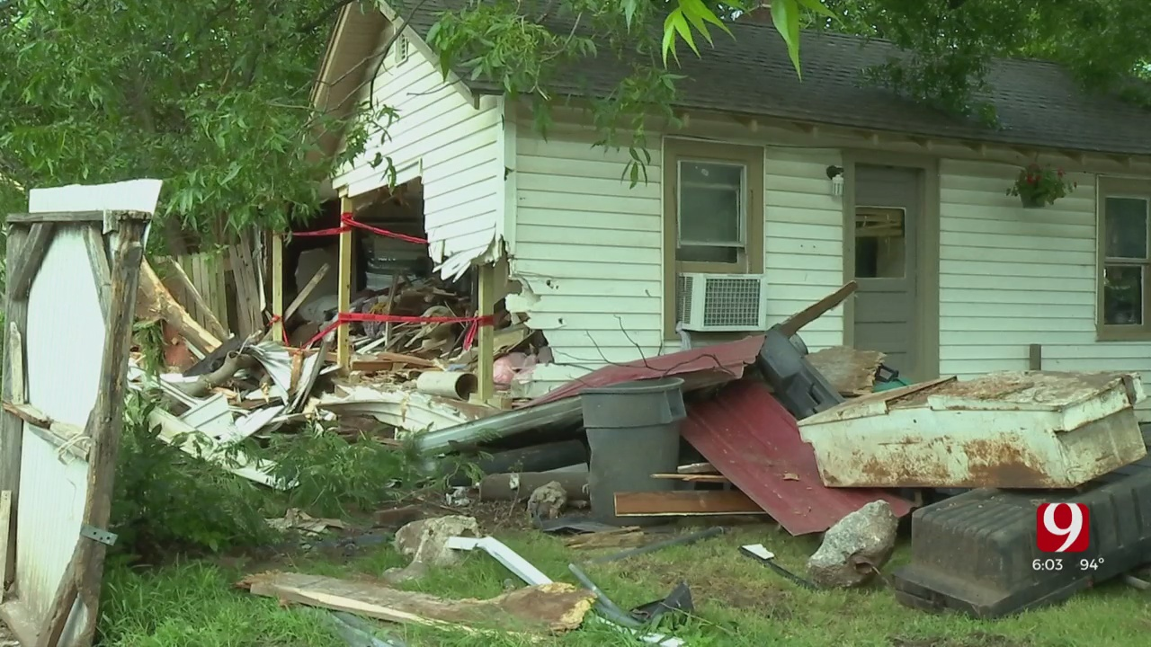 SW OKC Family Counts Blessings After Car Slams Into Their Home