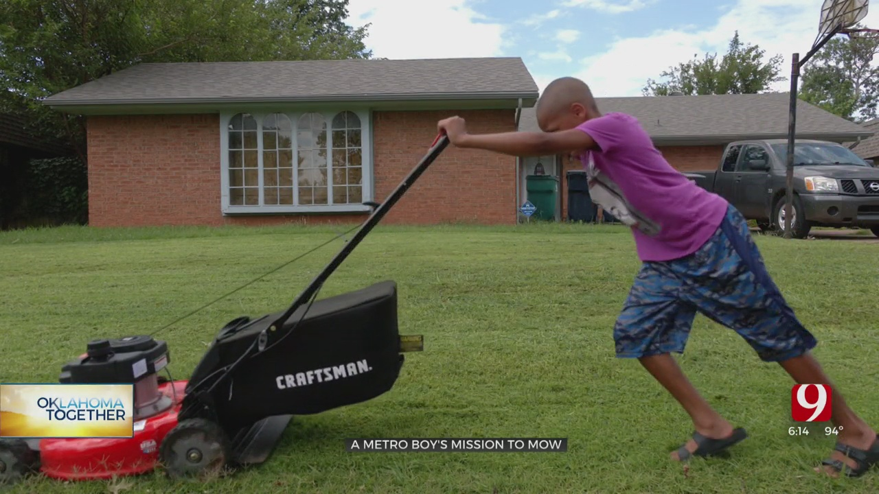 Oklahoma City 10-Year-Old On A Mowing Mission