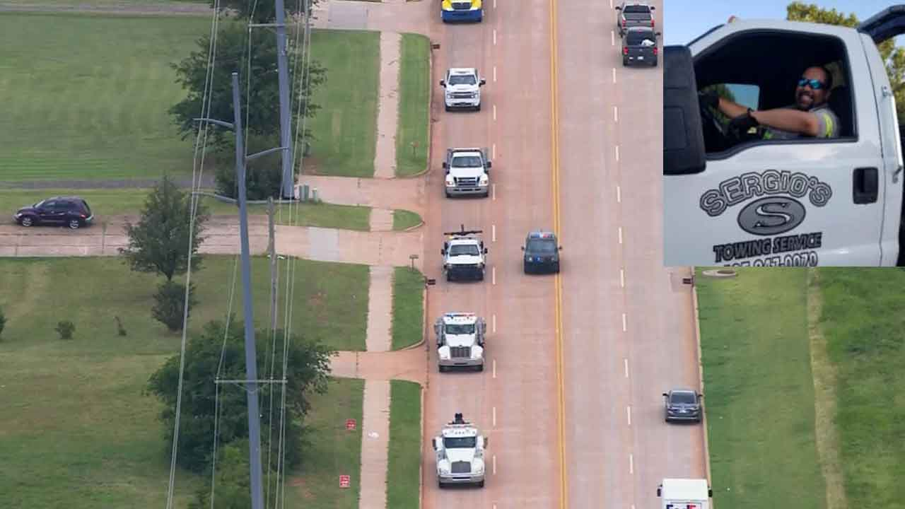 Oklahoma Tow Truck Drivers Hold Moving Tribute For Fellow Operator Killed While On Duty