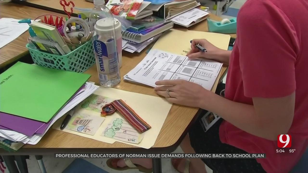 Norman Educators Issue List Of Demands Following Back To School Plan