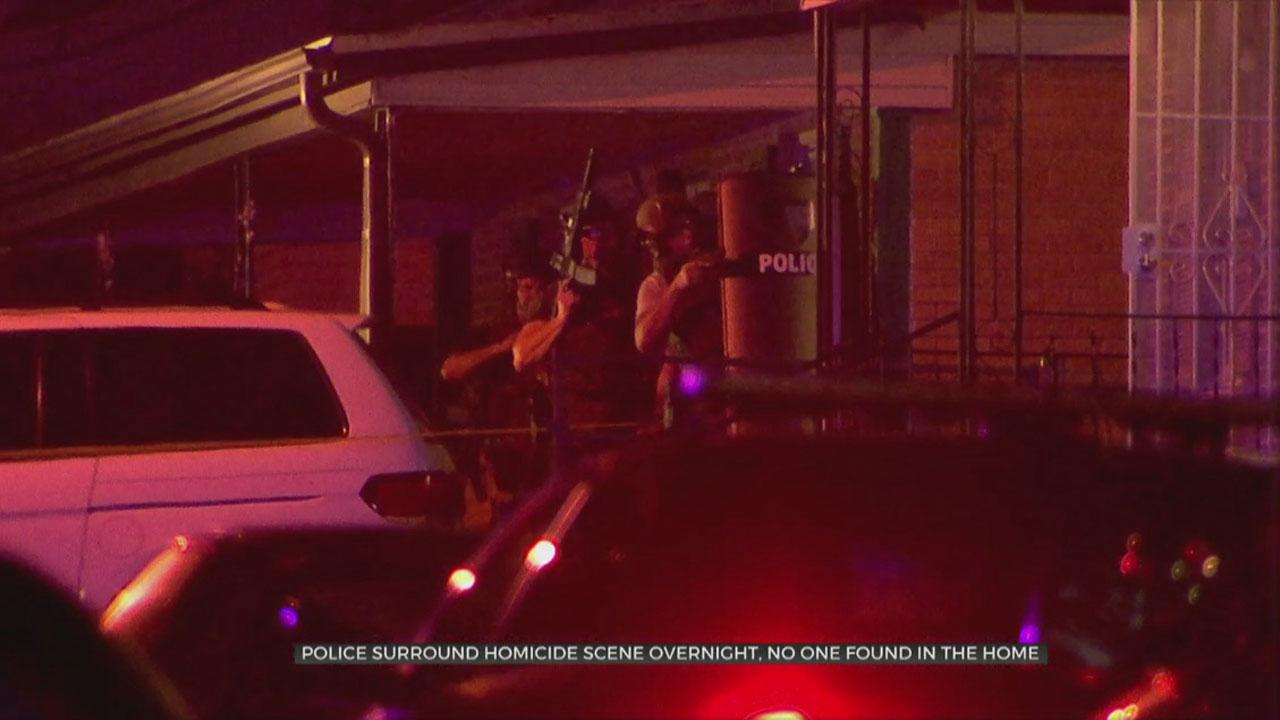 Police Surround Homicide Scene Overnight, No One Found Inside Home