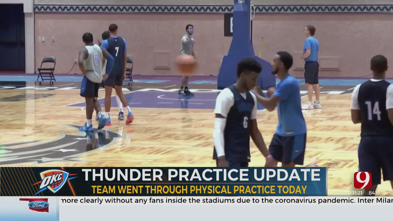 OKC Thunder Practices In Orlando