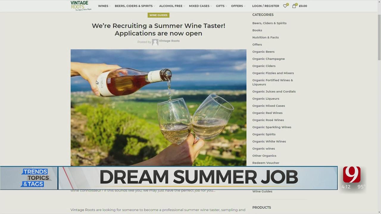 Trends, Topics & Tags: Dream Summer Job?