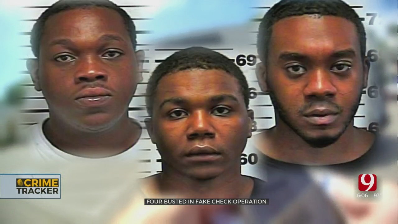 4 Men Arrested In Edmond In Connection To Metro Check Fraud