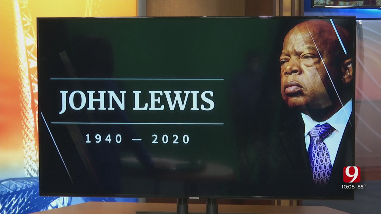 Fraternity Members Honor Late Congressman And Civil Rights Advocate John Lewis In OKC
