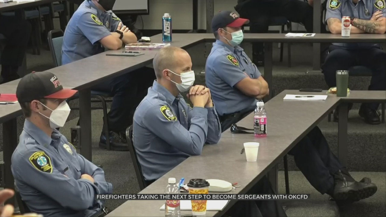 Firefighters Take Next Step To Become Sergeants With OKCFD