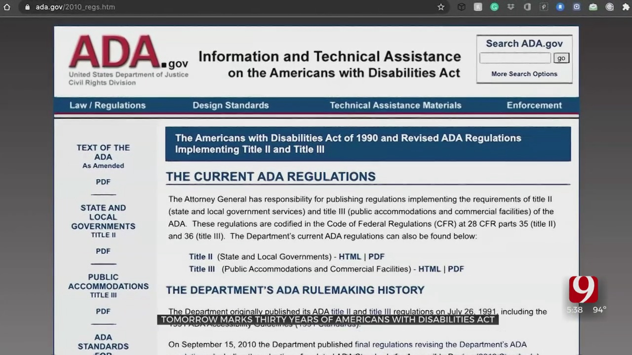 Americans With Disabilities Act Signed Became Law 30 Years Ago