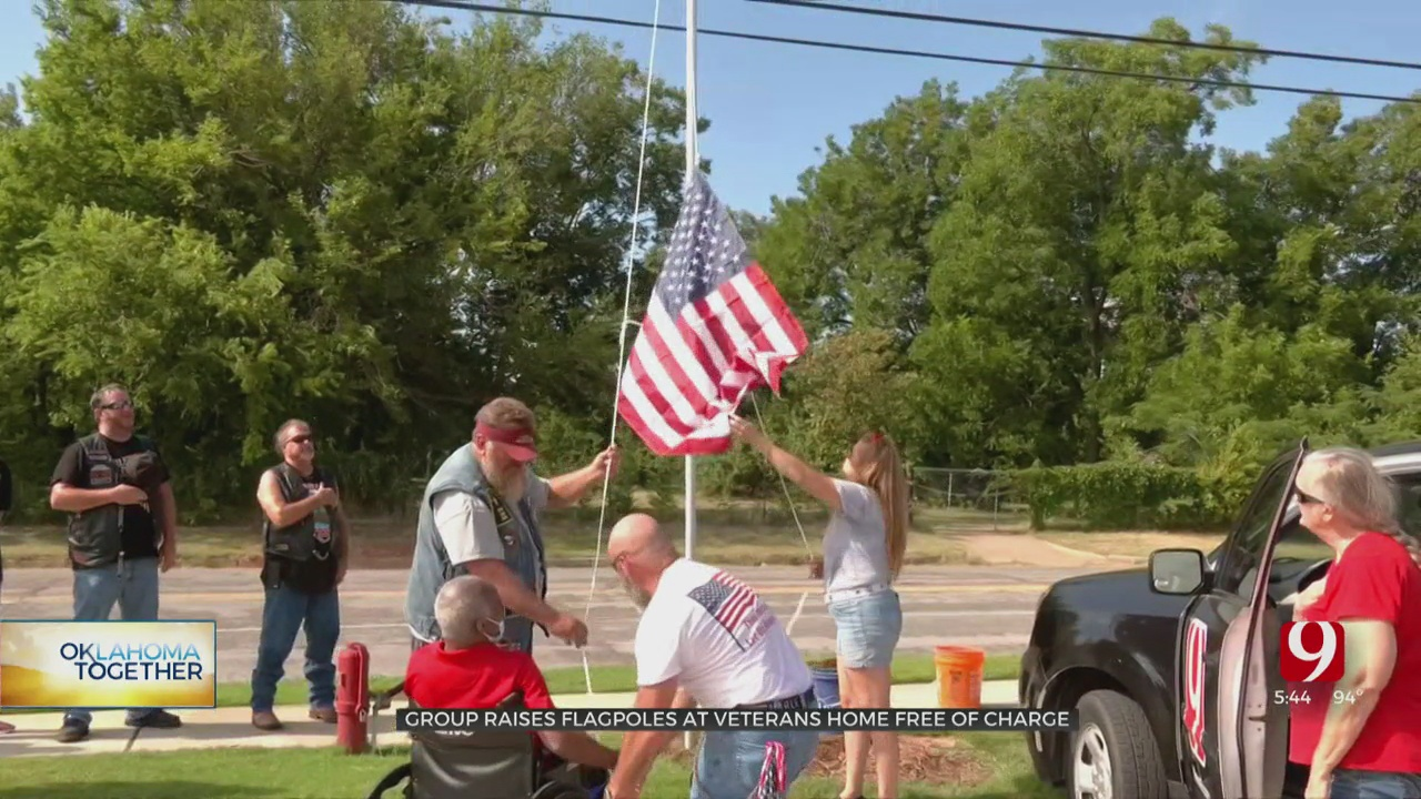 Oklahoma Together: Bikers Honor Veterans With Flag Raising