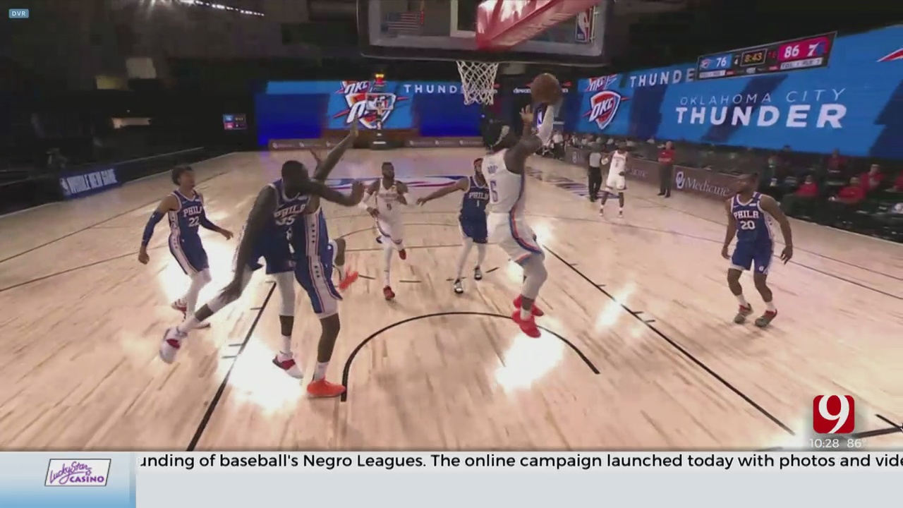 Thunder Rallies To Beat The 76ers In Scrimmage