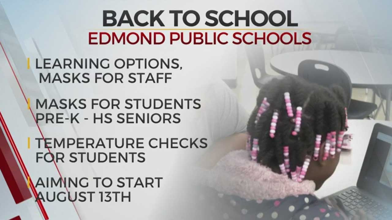 Edmond Approves Face Mask Mandate Ahead Of Edmond Public Schools' Back To School Plans Meeting