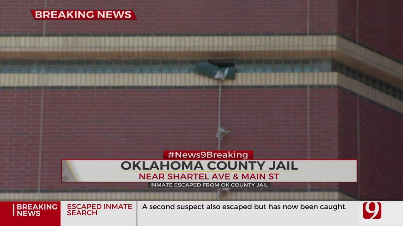 Law Officers Search For Okla. Co. Inmate Who Escaped Through Jail Window