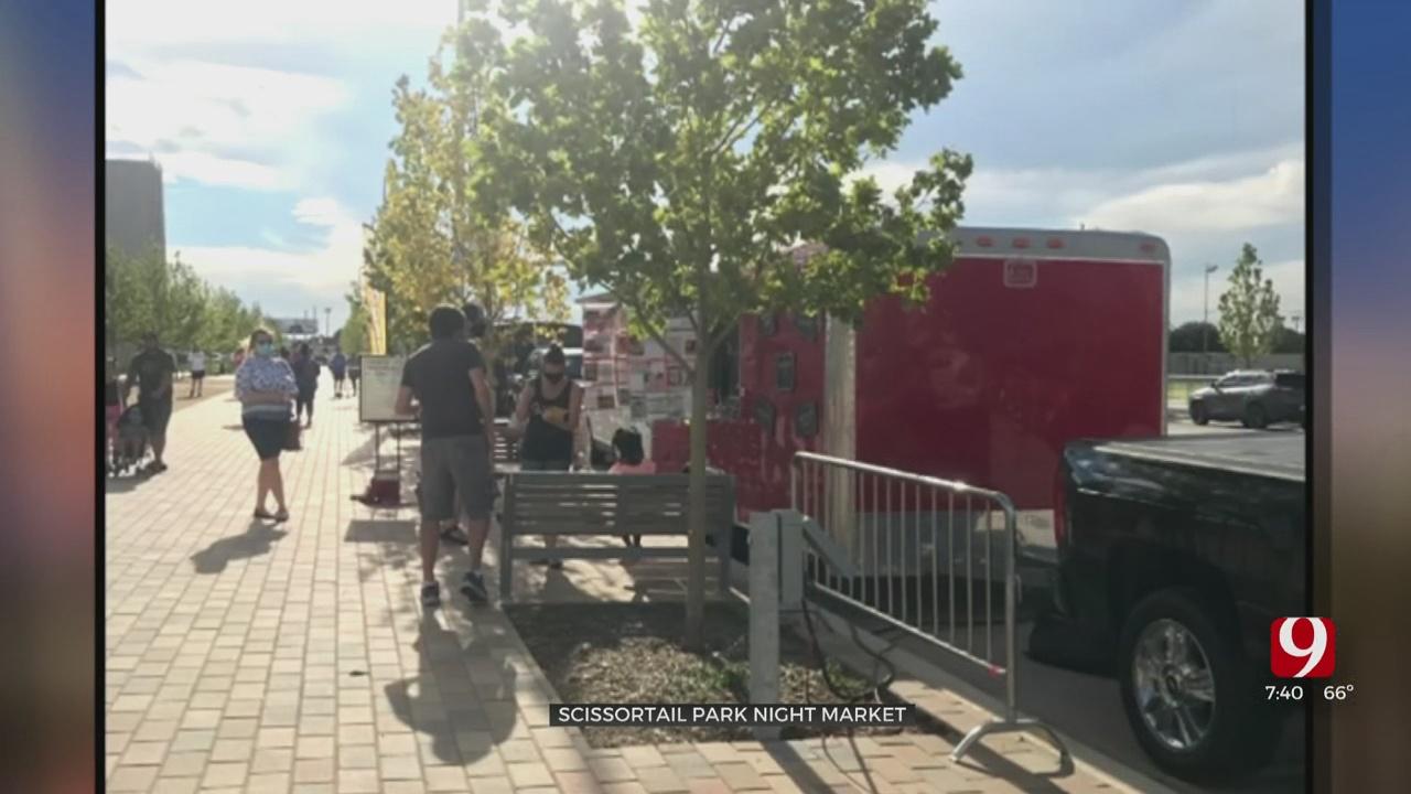 Scissortail Park Begins Monthly Night Market