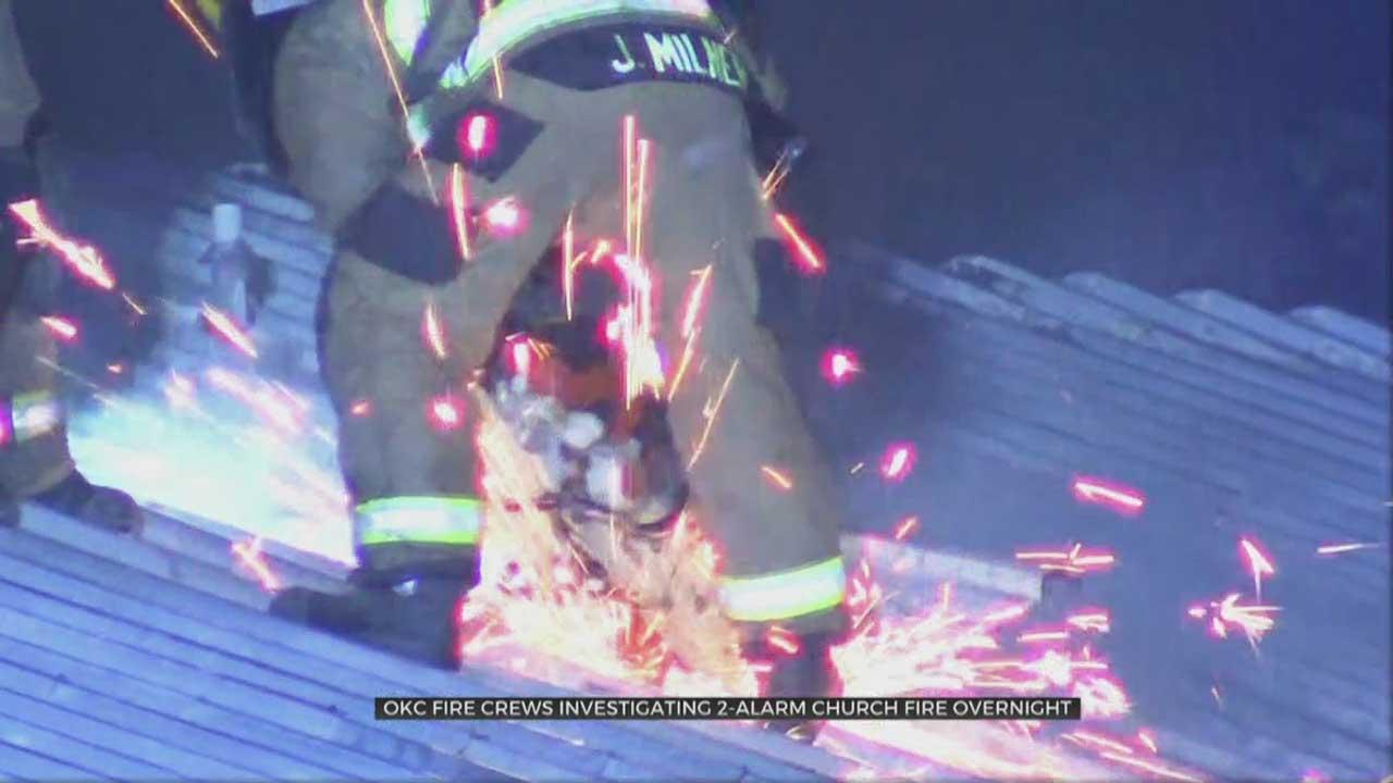 Fire Crews Battled A Church Fire Overnight In SE OKC