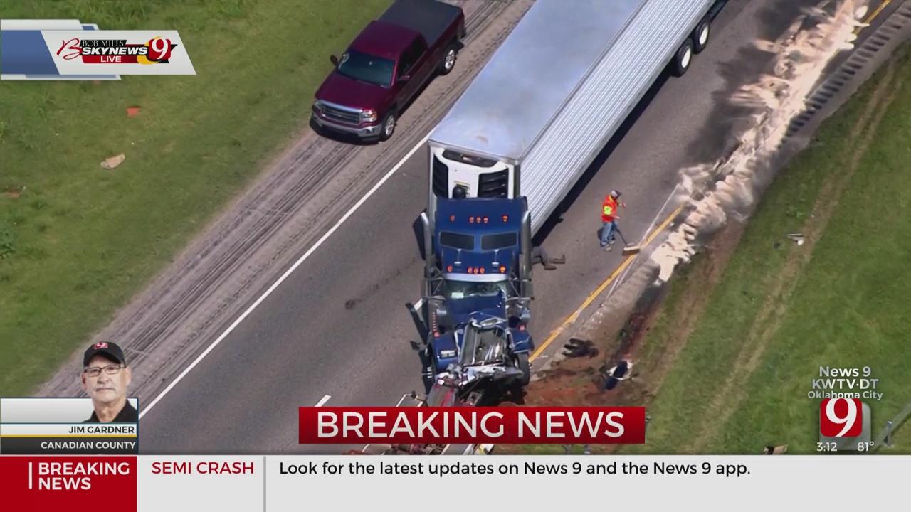 Crews Respond To Accident Involving Multiple Semis On WB I-40