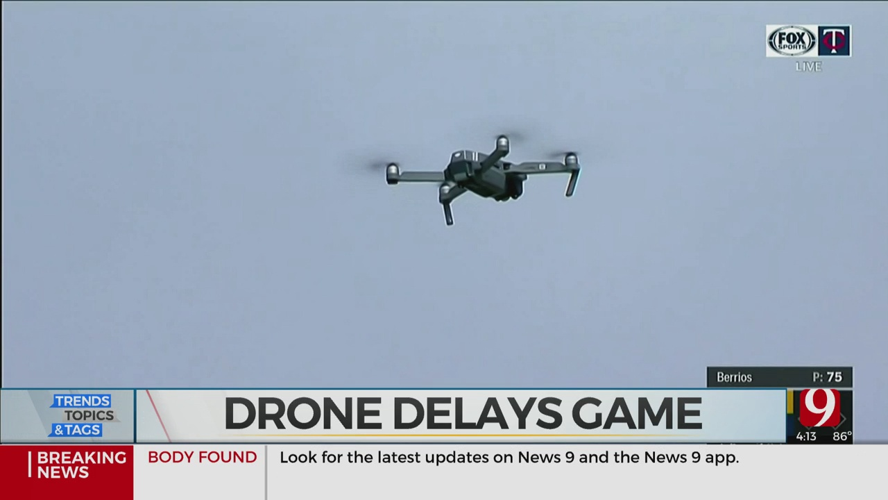 Trends, Topics & Tags: Drone Delays Baseball Game