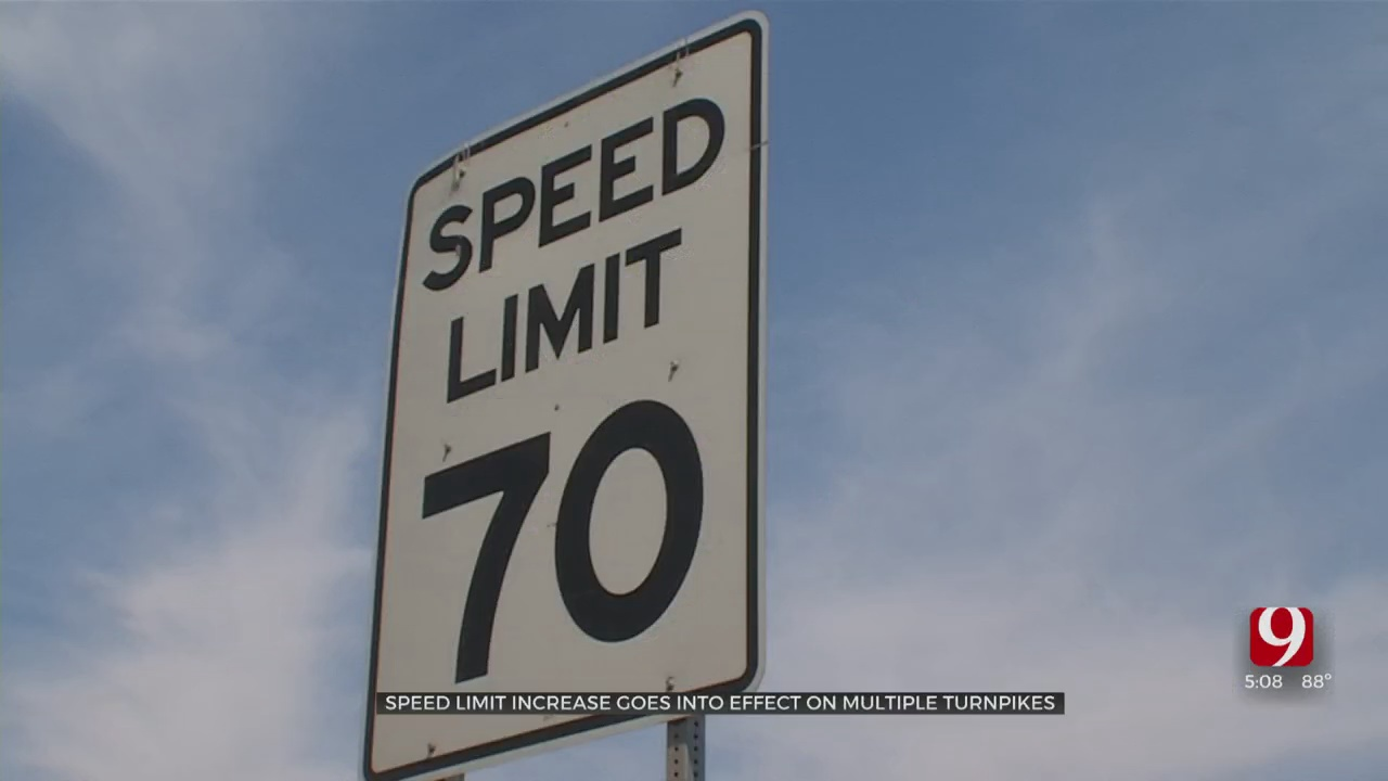 Speed Limit Increase Goes Into Effect For Multiple Oklahoma Turnpikes