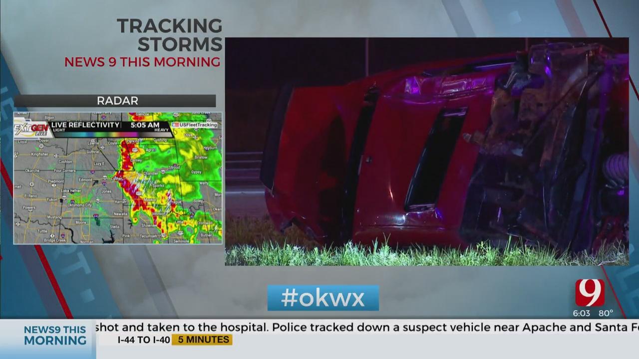 2 Vehicles Involved In NE OKC Rollover Accident