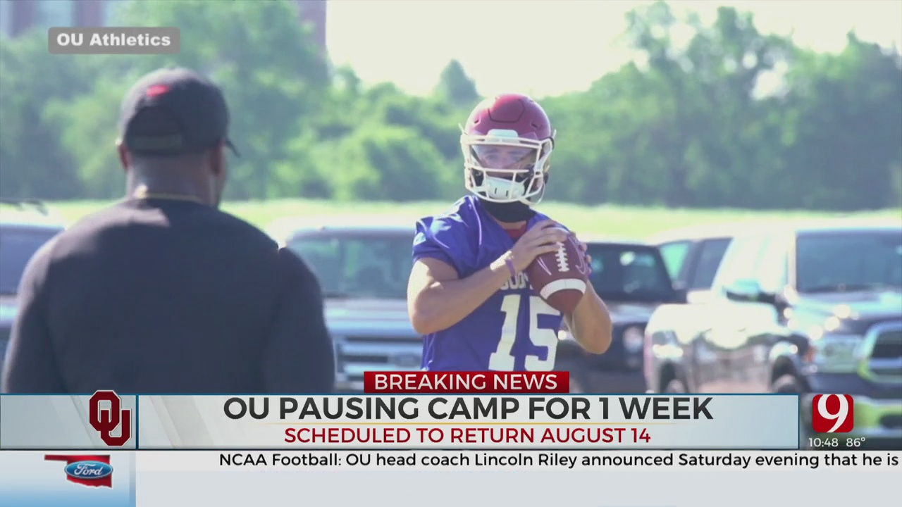 OU Pauses Fall Camp For One Week