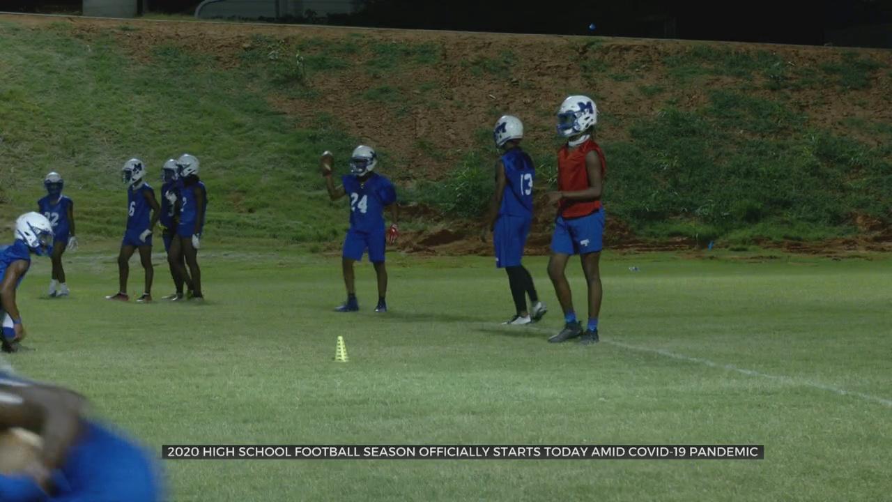 Okla. High School Football Teams Kick Of Season With Limited Practices