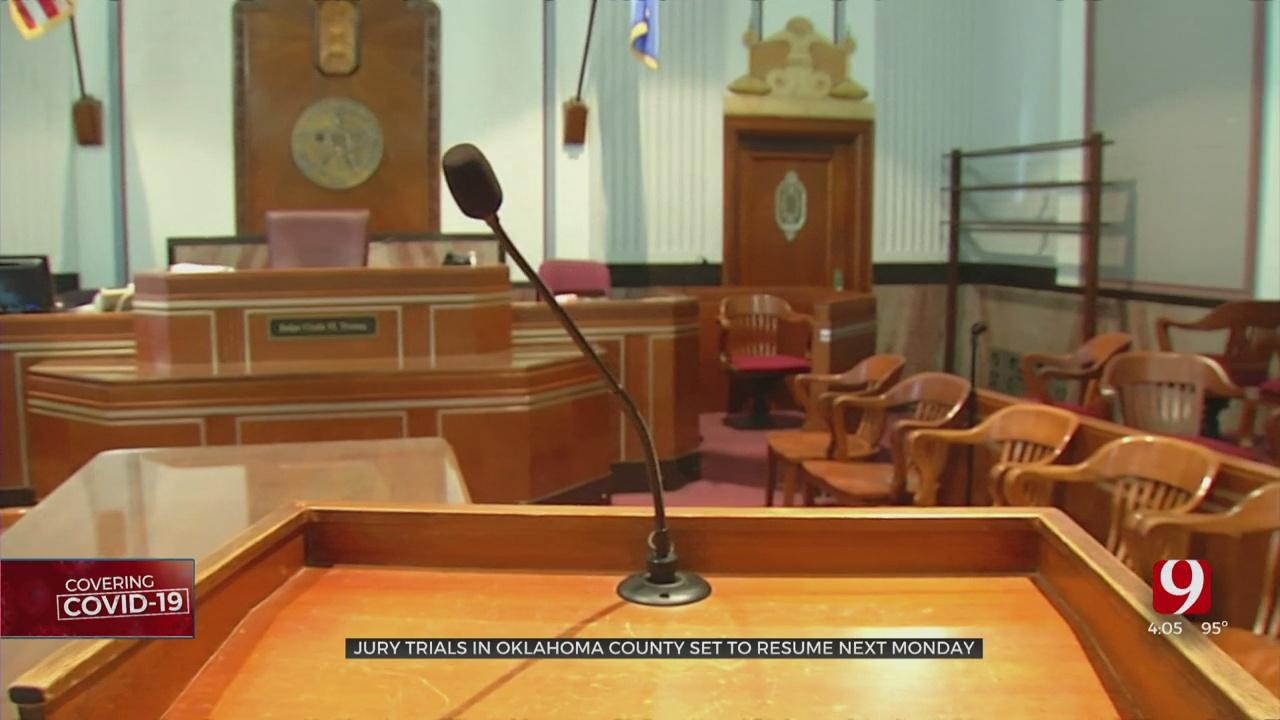 Jury Trials Set To Resume Monday In Oklahoma County