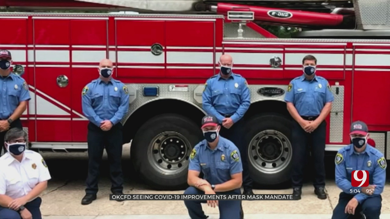 OKC FD Reduces COVID-19 Exposure After Implementing Mask Policy