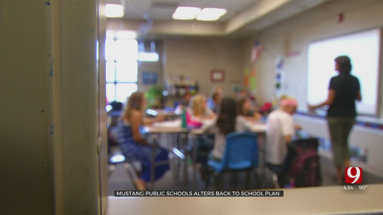Mustang Public Schools Alters Its Back-To-School Plan