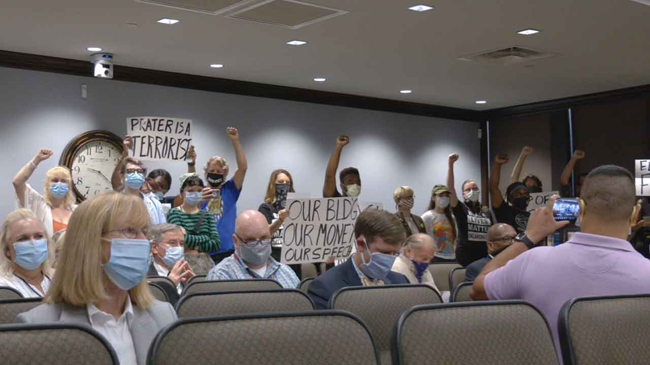 Okla. Co. Commissioners Meeting Disrupted By Protesters