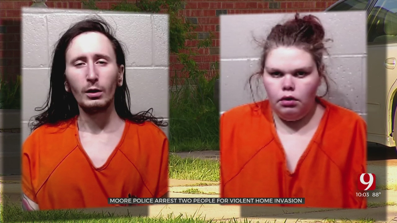 Moore Police Arrest 2 After Home Invasion, Assault On Elderly Couple