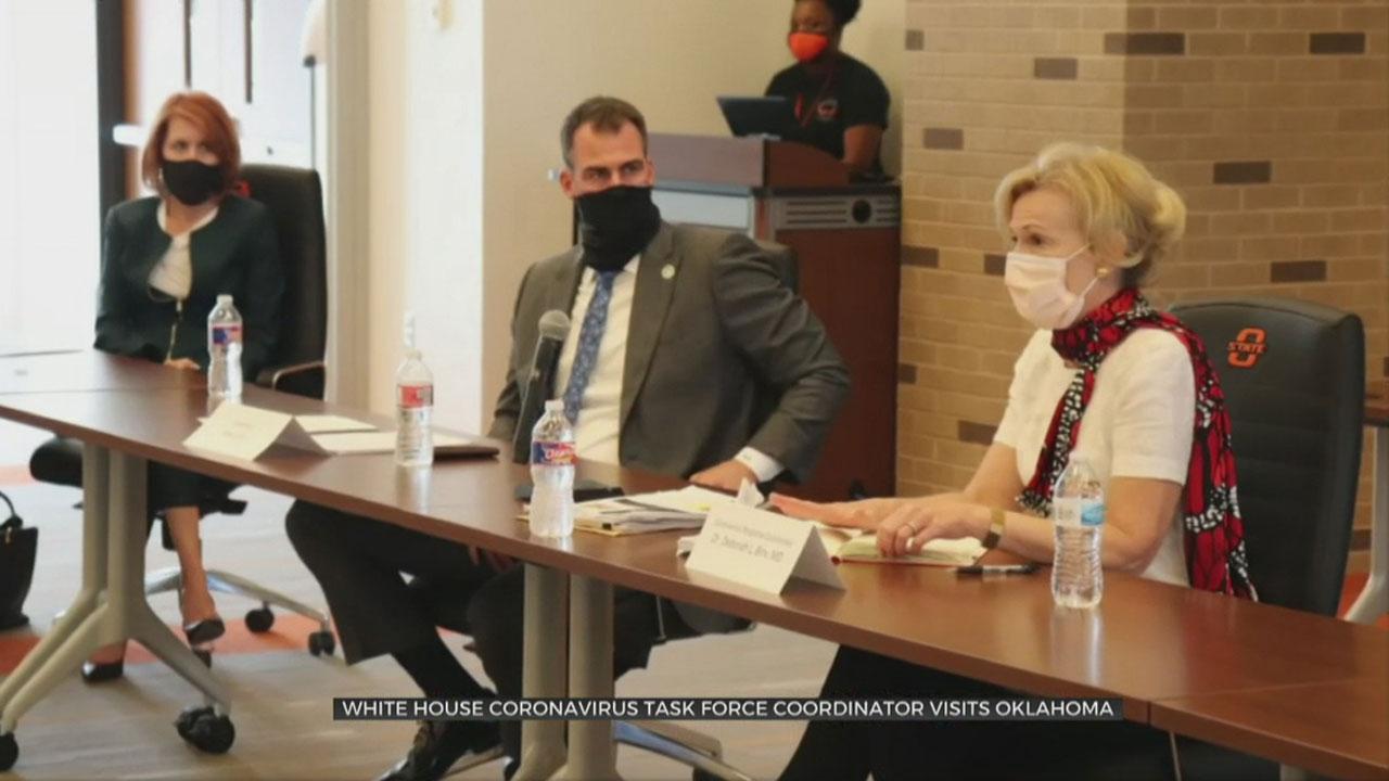 White House Coronavirus Task Force Coordinator Visits Oklahoma