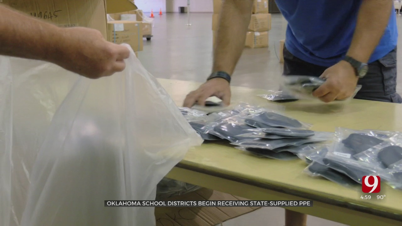 Oklahoma School Districts Begin Receiving State-Supplied PPE