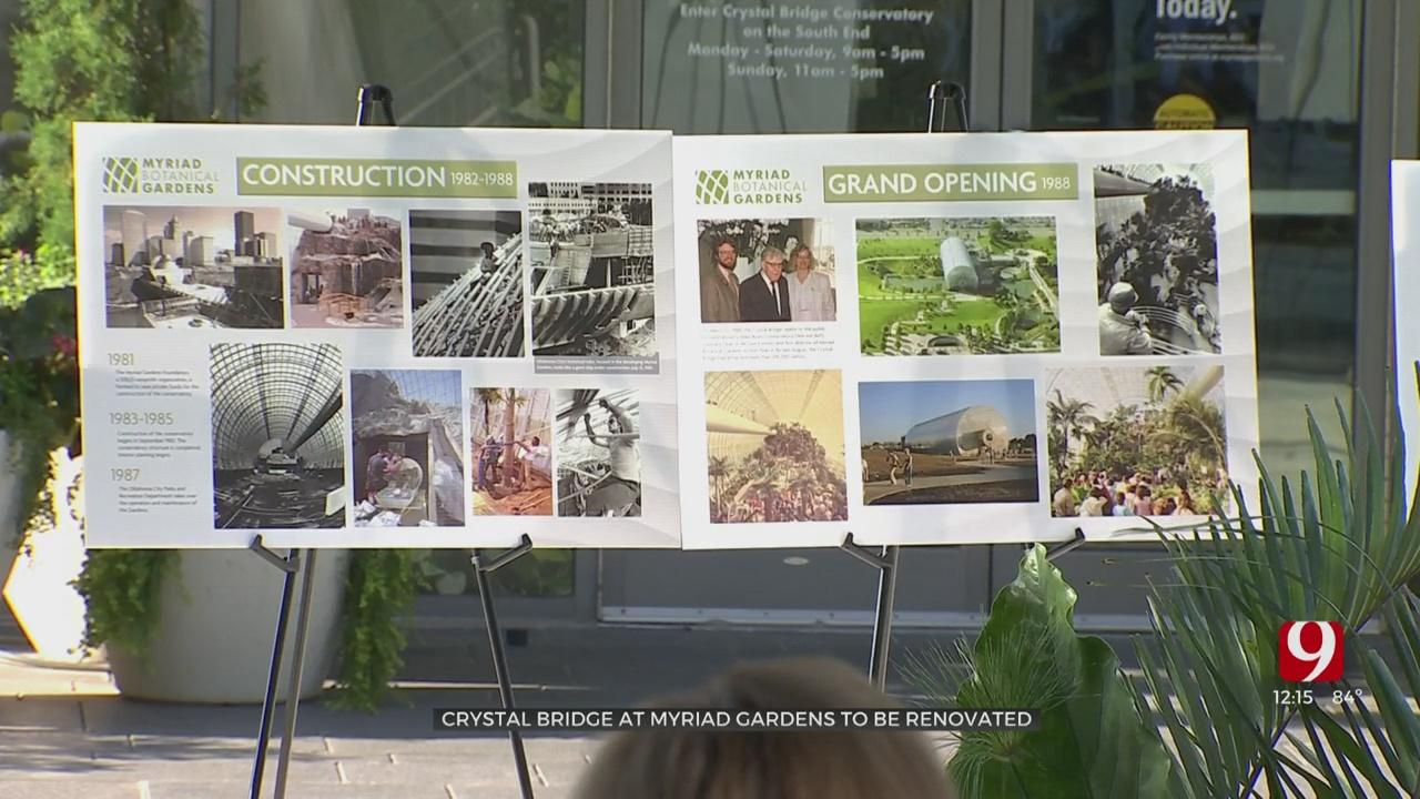 OKC's Crystal Bridge Will Undergo Major Renovation