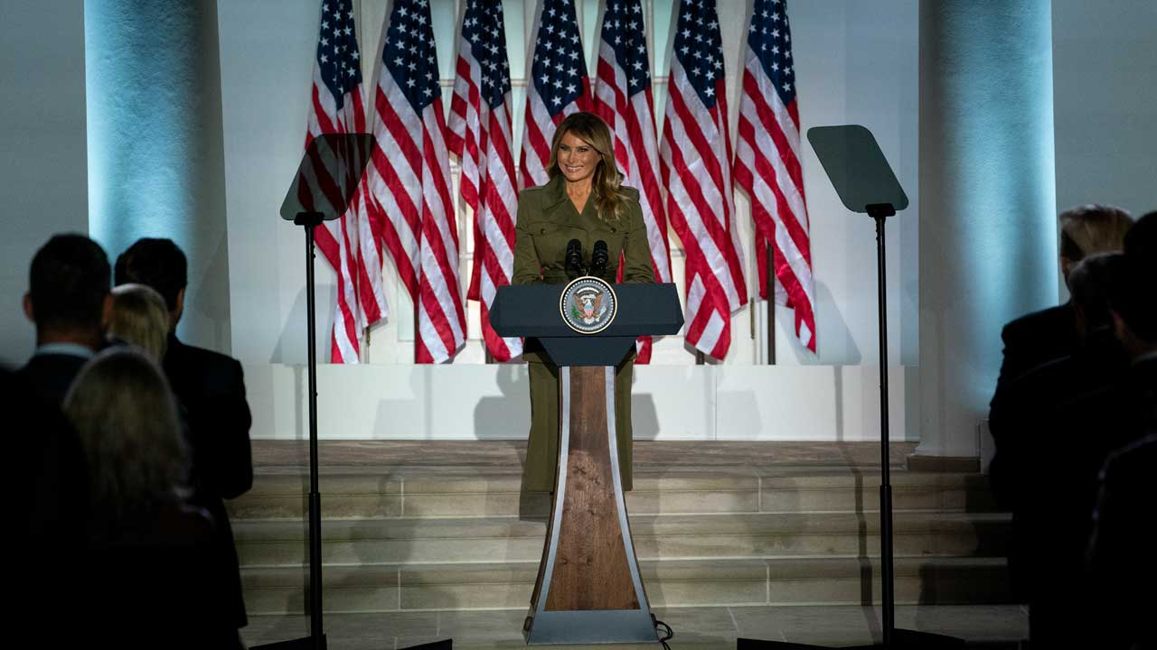 First Lady Melania Trump Offers Sympathy For COVID-19 Victims, Addresses Racial Unrest