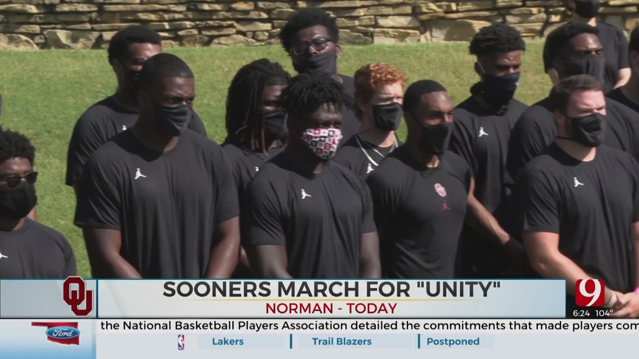 OU Football Team Commemorates March On Washington With March On Campus