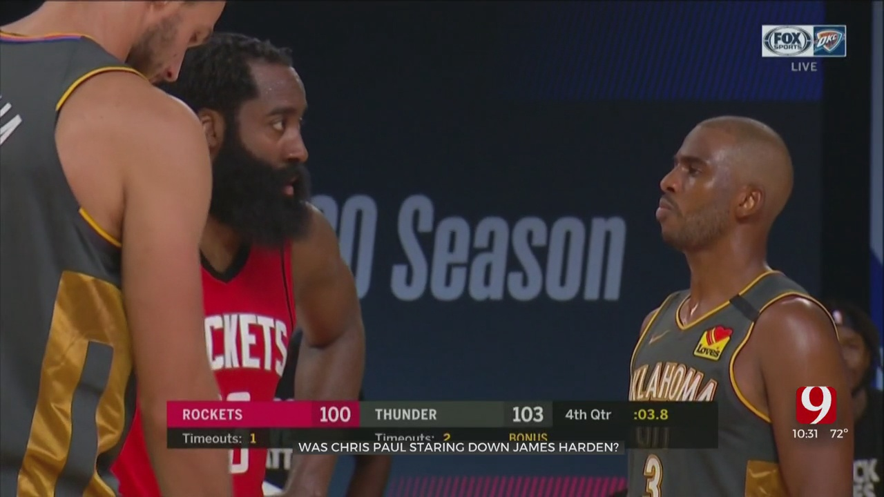 Was Chris Paul Staring Down James Harden In Viral Video?