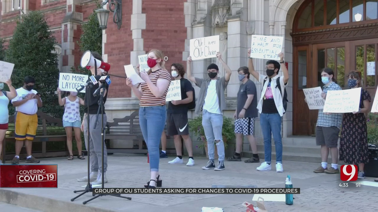 OU Students Protest For Safety During COVID-19 Pandemic