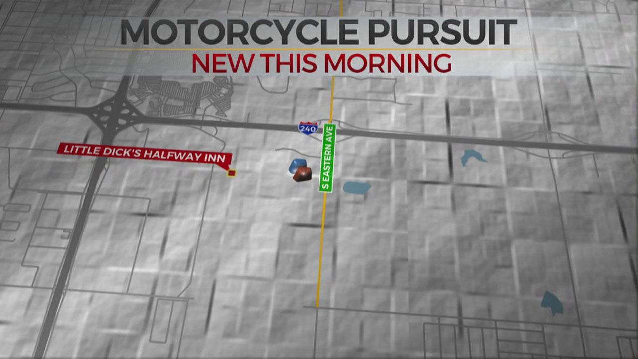 Motorcyclist Surrenders To Police After Overnight Pursuit In OKC